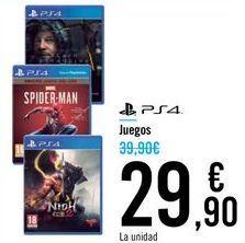 Oferta de Juegos PS4 por 29,9€