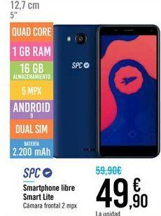Oferta de Smartphone libre Smarty Lite SPC  por 49,9€