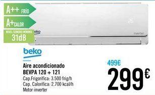 Oferta de Aire acondicionado BEVPA 120 + 121 beko  por 299€
