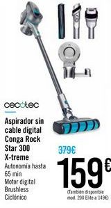 Oferta de Aspirador sin cable digital Conga Rock Star 300 X-treme por 159€