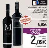 Oferta de Vino Alicante LA SERRELLA o MONASTRELL  por 6,95€