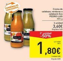 Oferta de Crema de calabaza, verduras o cabalacín Eco Pedro Luis  por 3,6€