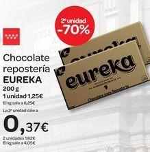 Oferta de Chocolate repostería EUREKA  por 1,25€