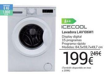 Oferta de Lavadora LAV106W1 icecool por 199€