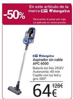 Oferta de Aspirador sin cable APC 6000 Orbegozo por 64€