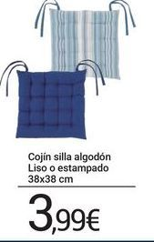 Oferta de Cojín silla algodón Liso o estampado 38x38 cm por 3,99€