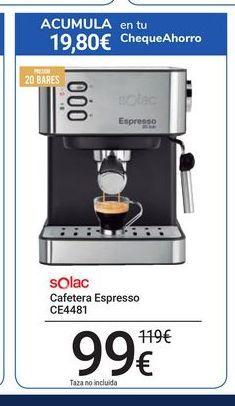 Oferta de Cafetera Espresso CE4481 Solac por 99€