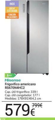 Oferta de Frigorífico americano RS670N4HC2 Hisense por 599€