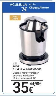 Oferta de Exprimidor MWEXP-300 mywave por 35€