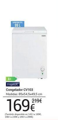 Oferta de Congelador CV103 FrigeluX por 169€