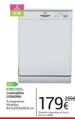 Oferta de Lavavajillas LVS60WA icecool por 179€