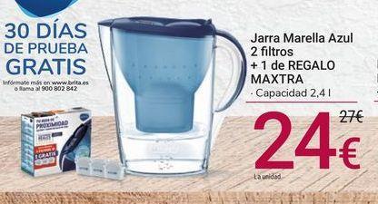Oferta de Jarra Marella Azul 2 filtros + 1 de REGALO Maxtra por 24€