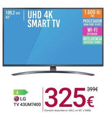 Oferta de TV 43UM7400 LG por 325€