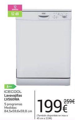 Oferta de Lavavajillas LVS60WA icecool por 199鈧�