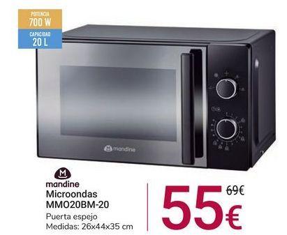 Oferta de Microondas MMO20BM-20 Mandine por 55€