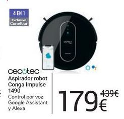 Oferta de Aspirador robot Conga Impulse 1490 cecotec por 179€