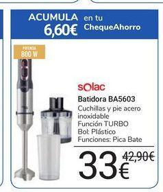 Oferta de Batidora BA5603 Solac por 33€