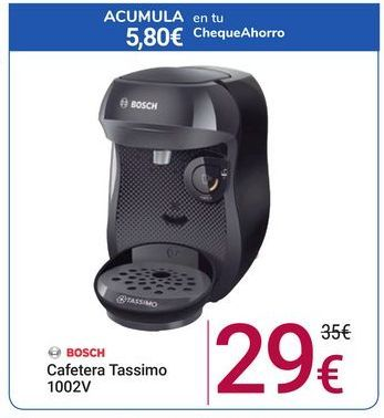 Oferta de Cafetera Tassimo Bosch por 29€