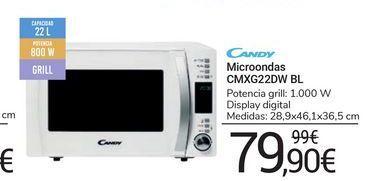 Oferta de Microondas CMXG22DW BL Candy por 79,9€