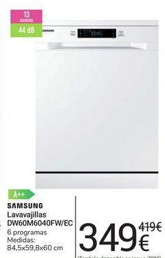 Oferta de Lavavajillas DW60M6040FW/EC Samsung por 349€