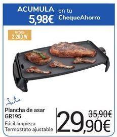 Oferta de Plancha de asar GR195 Jata por 29,9€