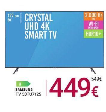 Oferta de TV 50TU7125 Samsung por 449€