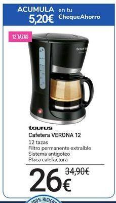 Oferta de Cafetera Verona 12 Taurus por 26€