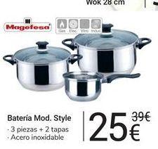 Oferta de Batería Mod. Style Magefesa por 25€