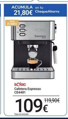 Oferta de Cafetera Espresso CE4481 Solac por 109€