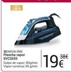 Oferta de Plancha vapor SVC2655 Digiline por 19€