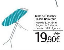 Oferta de Tabla de planchar Classic carrefour por 19,9€