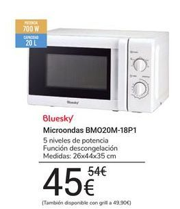 Oferta de Microondas BMO20M-18P1 bluesky por 45€