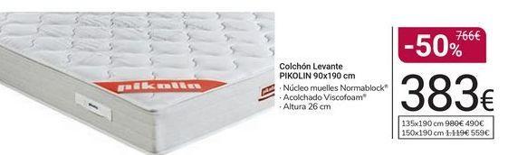 Oferta de Colchón Levante Pikolin 90x190 cm por 383€