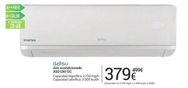 Oferta de Aire acondicionado ASD12KI-DC Daitsu por 379€