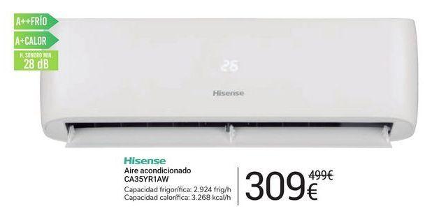 Oferta de Aire acondicionado CA35YR1AW Hisense por 309€