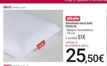 Oferta de Almohada visco Soft Pikolin por 51€