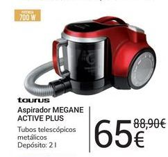Oferta de Aspirador Megane Active Plus Taurus por 65€