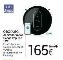 Oferta de Aspirador robot Conga Impulse 1490 cecotec por 165€