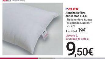 Oferta de Almohada fibra antiácaros Flex por 19€