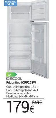 Oferta de Frigorífico ICRF263W icecool por 179€