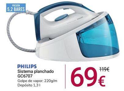 Oferta de Sistema de planchado GC6707 Philips por 69€