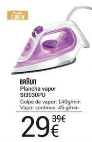 Oferta de Plancha vapor SI3030PU Braun por 29€