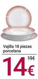 Oferta de Vajilla 18 piezas porcelana por 14€