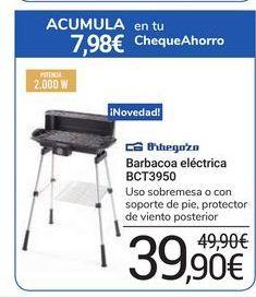 Oferta de Barbacoa eléctrica BCT3950 Orbegozo por 39,9€