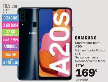 Oferta de Smartphone libre A20s SAMSUNG por 169€