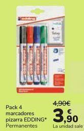 Oferta de Pack 4 marcadores pizarra EDDING Permanentes por 3,9€