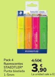 Oferta de Pack 4 fluorescentes STAEDTLER  por 3,9€