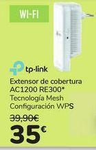 Oferta de Extensor de cobertura AC1200 RE300 TP-LINK por 35€