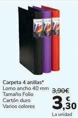Oferta de Carpeta 4 anillas  por 3,3€