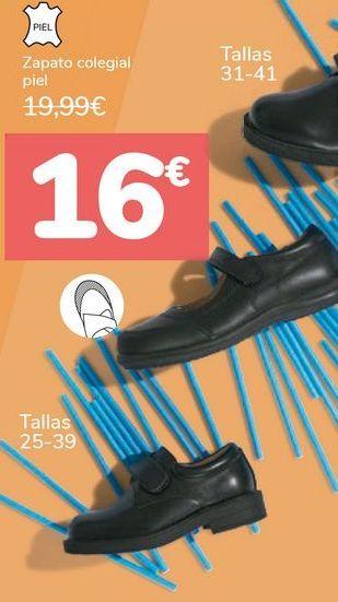 Oferta de Zapato colegial piel por 16€